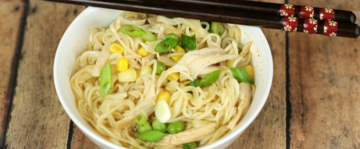 Spicy Thai Turkey Ramen – an easy and delicious soup recipe that's ready in under 15 minutes and uses leftover chicken or turkey