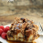Cinnamon Streusel French Toast Casserole - this easy breakfast casserole recipe is assembled the night before and baked in the morning