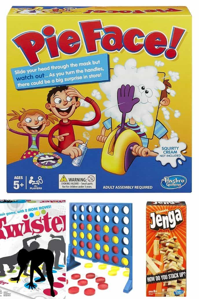 Collection of family board games for family game night