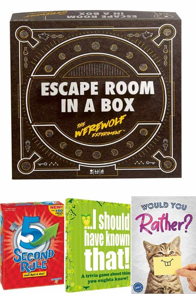 collection of games for family game night
