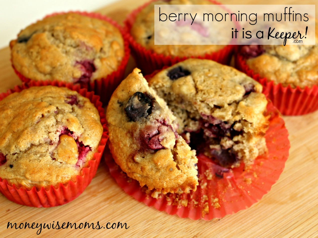 Berry Morning Muffins - a fruity and delicious easy breakfast recipe