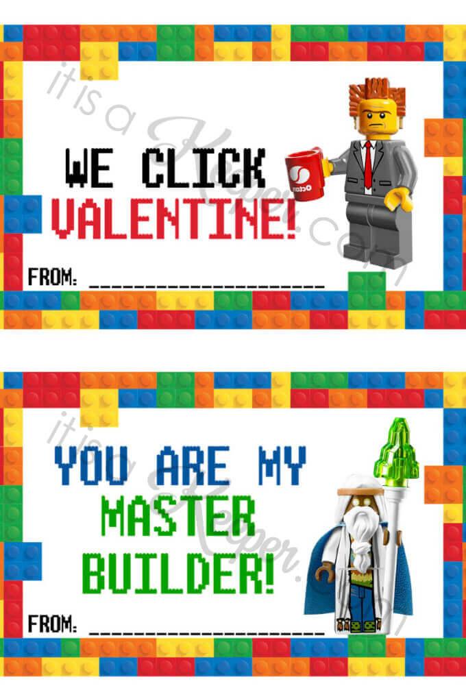 Lego Valentine Cards