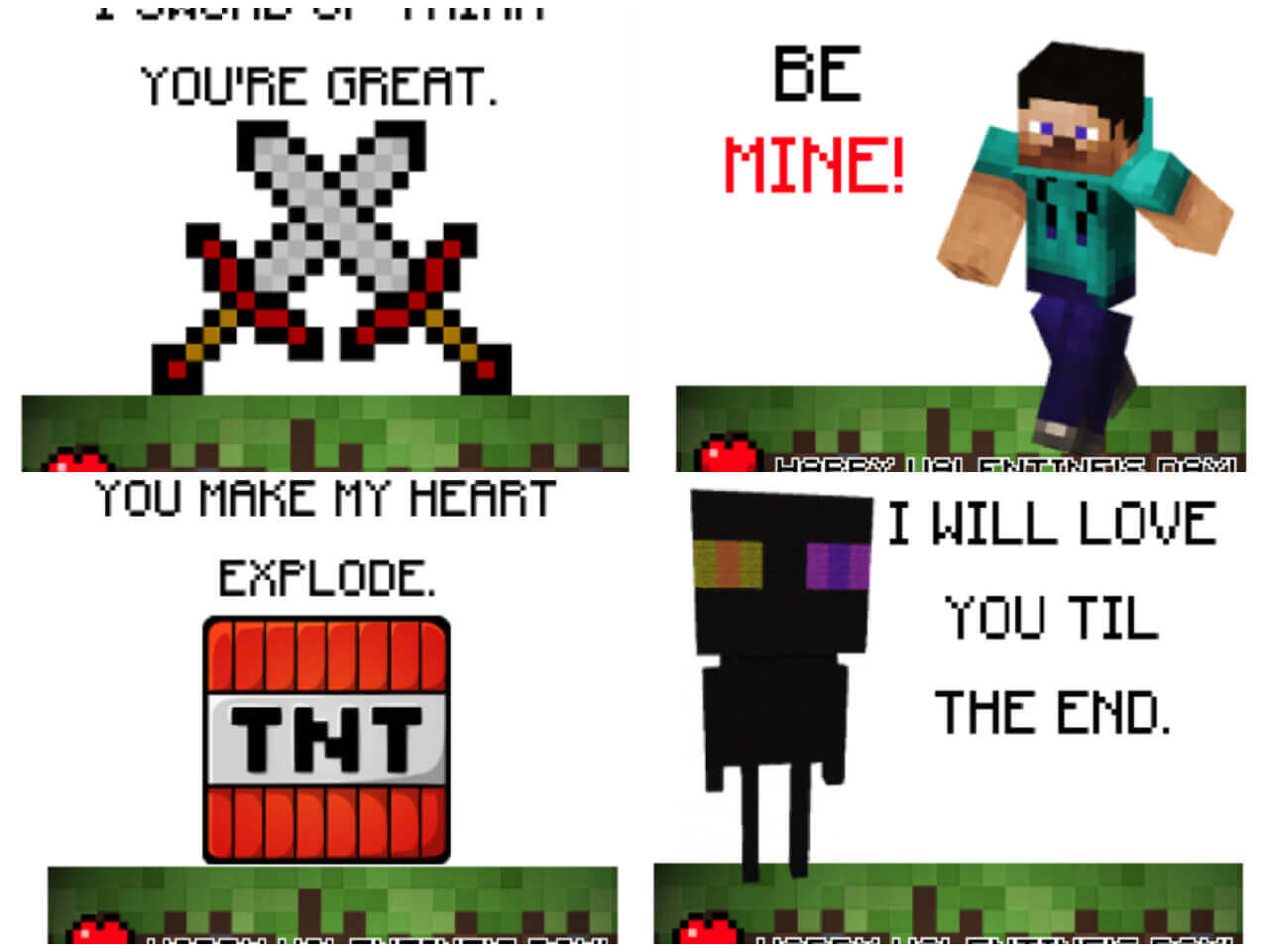 Minecraft Valentine Printable