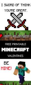 Minecraft Valentine Printable