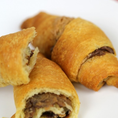 Nutella Peanut Butter Crescents