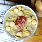 Potato Corn Chowder - One of the best easy crock pot recipes sure to warm you up on a cold day