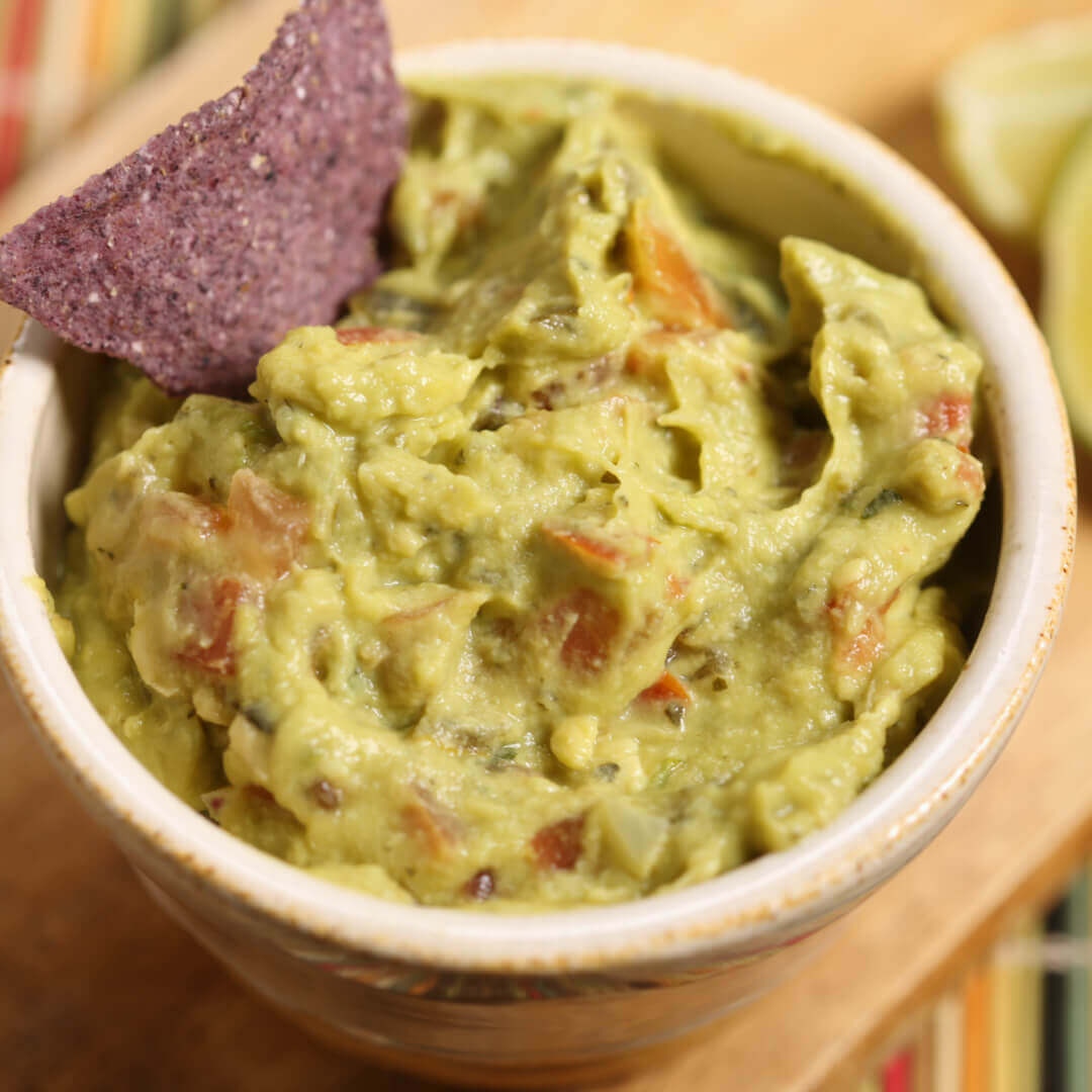 Quick homemade guacamole