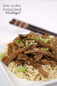 Slow Cooker Korean Beef - with only 10 minutes of prep time, this is one of my all time favorite easy crock pot recipes