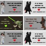 Star Wars Valentine Cards Printable