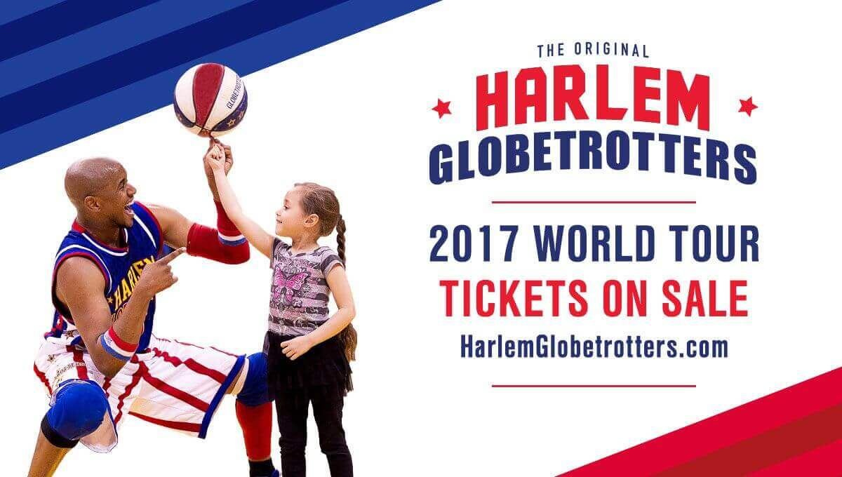 Enter to win free Harlem Globetrotters tickets