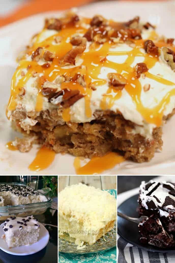 collection of Easy Poke Cake Recipes