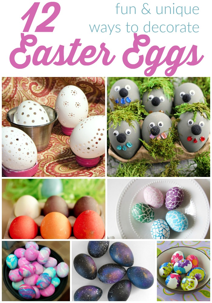 12 Fun and Unique Ways to Decorate Easter Eggs