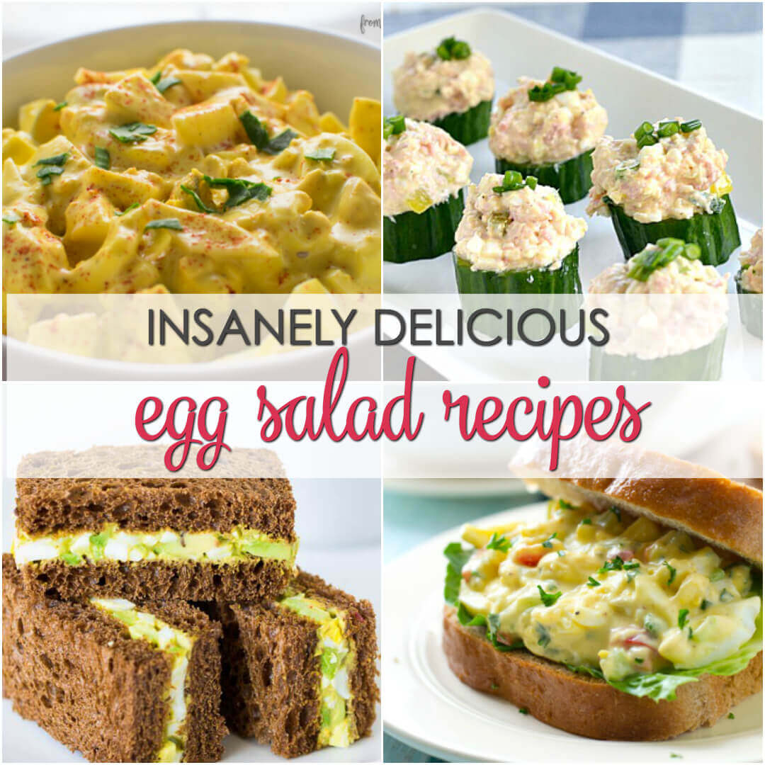 12 insanely delicious Egg Salad Recipes including my favorite old fashioned egg salad recipe!