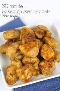 Baked Chicken Nuggets Recipe - This kid friendly recipe is a healthier and easy meal idea