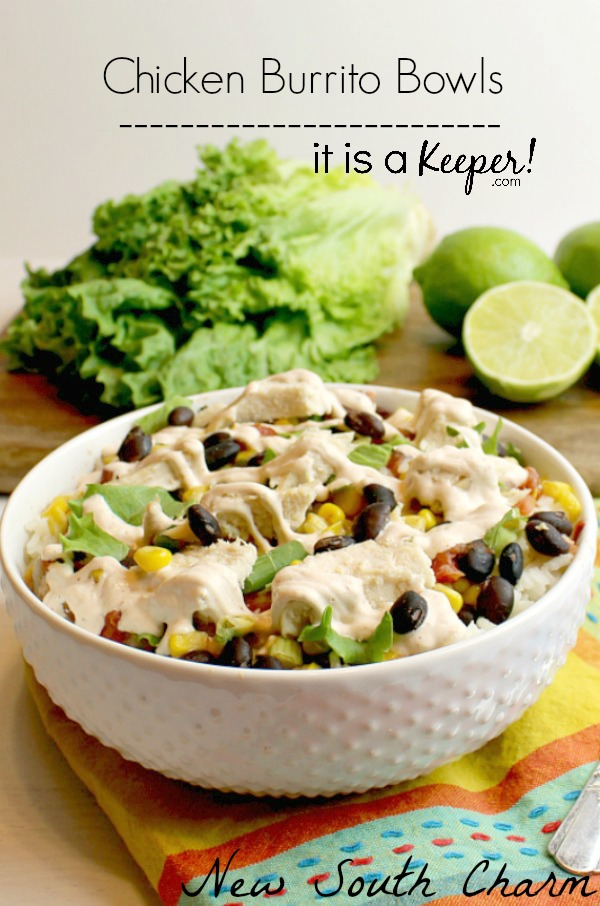 Chicken Burrito Bowl - This easy recipe is full of flavor and perfect for lunch or dinner!
