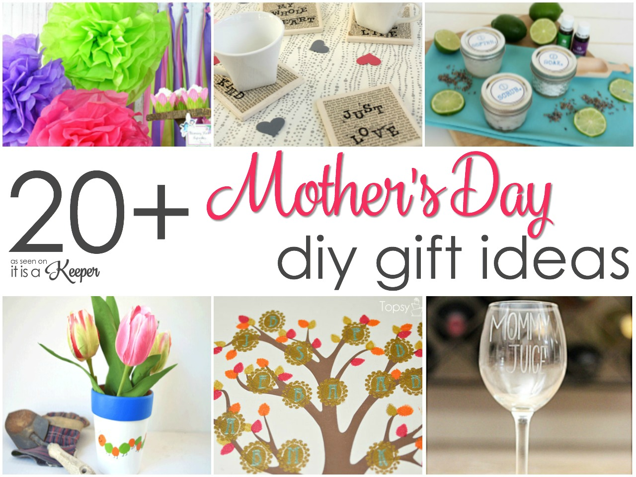 Great Diy Presents For Mom: 20 Easy Homemade Mother's Day Gifts