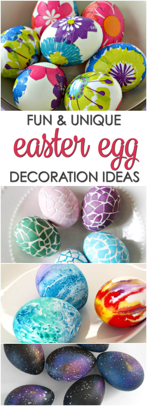 It's not Easter without decorated eggs! Here are 12 fun and unique Easter Egg Decorating Ideas kids love!