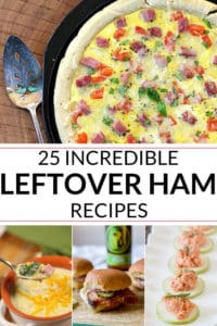 A collection of leftover ham recipe
