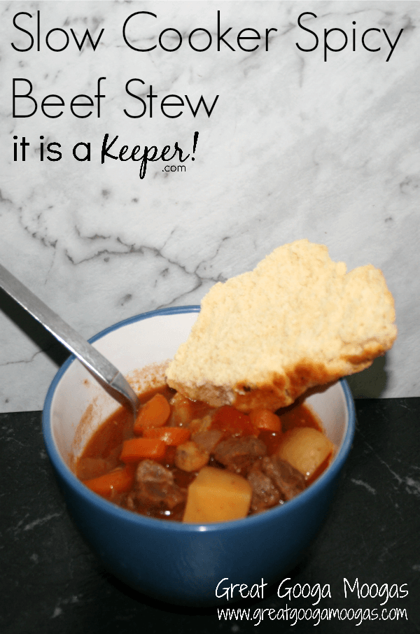This Slow Cooker Spicy Beef Stew will quickly become one of your favorite easy crock pot recipes.  It's one of the best slow cooker recipes of all time.