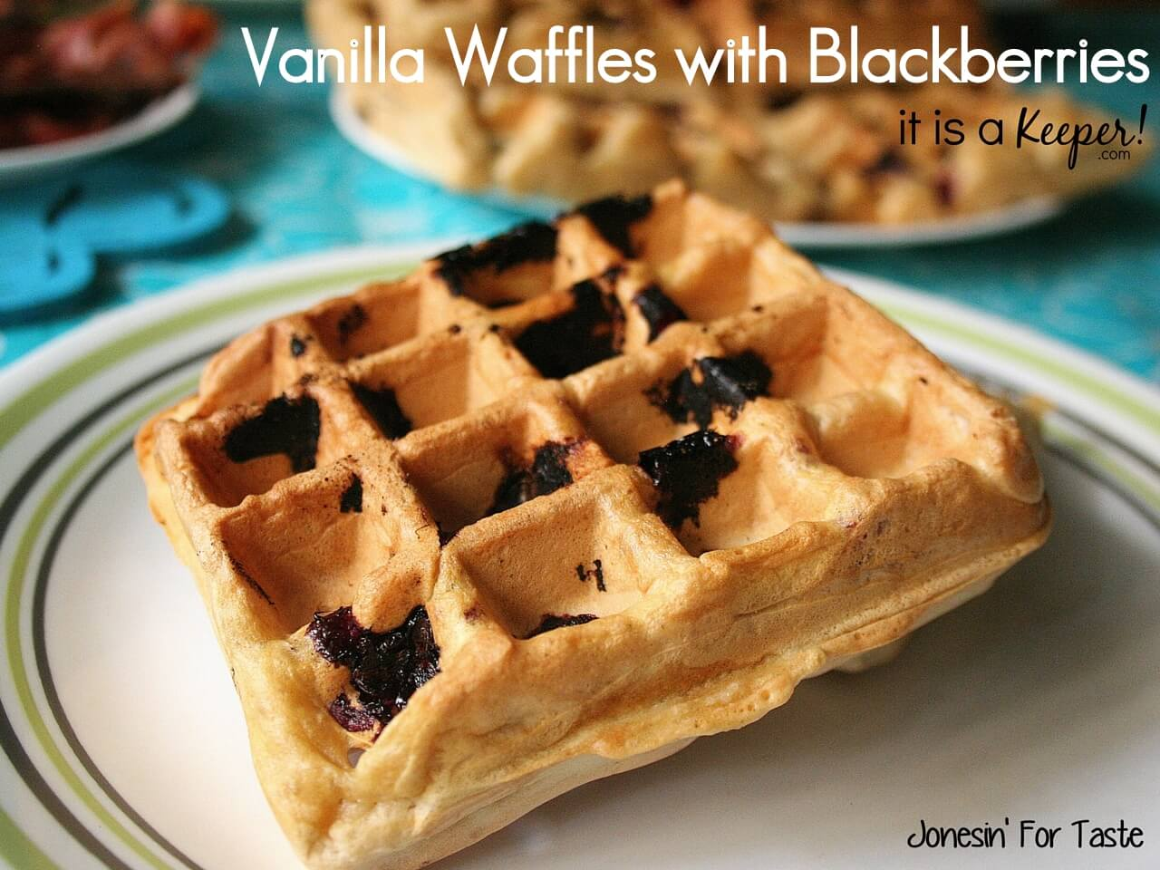 Vanilla Waffles with Blackberries make breakfast fun again and freshen up simple vanilla waffles with juicy blackberries.
