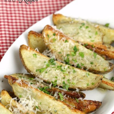 Garlic Parmesan Potato Wedges