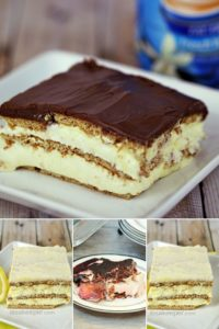 a group of yummy No Bake cakes you'll love