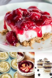 a variety of no bake cakes recipes that are easy desserts to impress