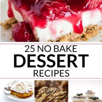 a collection of amazing No Bake cakes