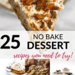 a collection of delicious no bake cakes dessert recipes