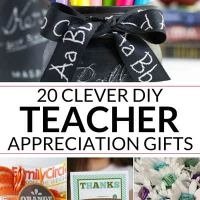 20 DIY Teacher Appreciation Gifts