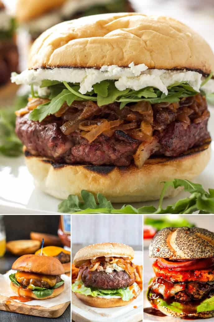 A collection of Homemade Burger Recipes