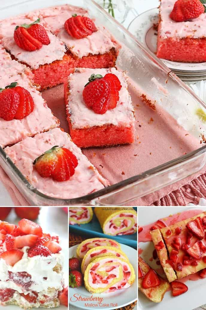 Collection of Strawberry Cake recipes