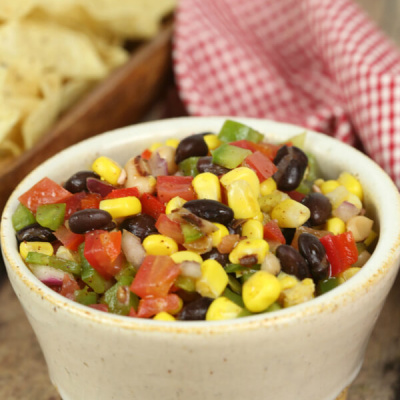 Cowboy Salsa - this easy appetizer recipe is always a huge hit