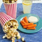 Peanut Butter Drizzled Popcorn