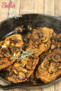 Skillet Balsamic Chicken - this easy recipe is ready in under 30 minutes