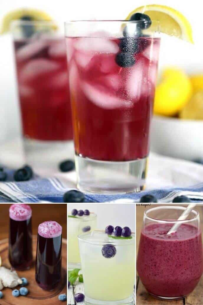 A collection of recipes featuring blueberry fruit