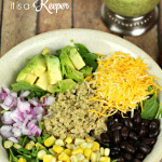Tex Mex Quinoa Bowl - this easy salad recipe is loaded with flavor, texture and goodness