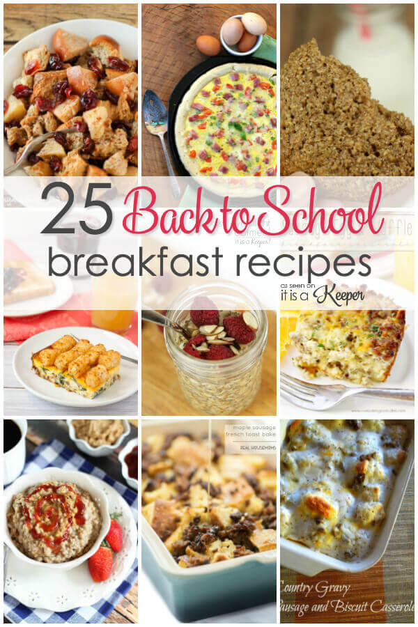 25 Easy Back to School Breakfast Recipes - easy crock pot recipes, casseroles and more