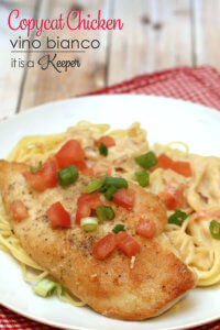 Copycat Chicken Vino Bianco - this restaurant quality recipe is super easy to make at home