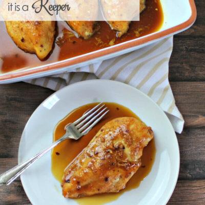 Honey Garlic Baked Chicken Recipe - this is an easy dinner idea