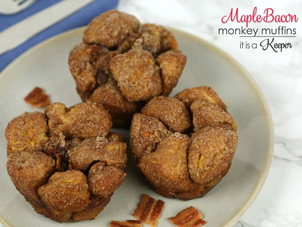 Maple Bacon Monkey Muffins - these easy muffins are a fun twist on monkey bread