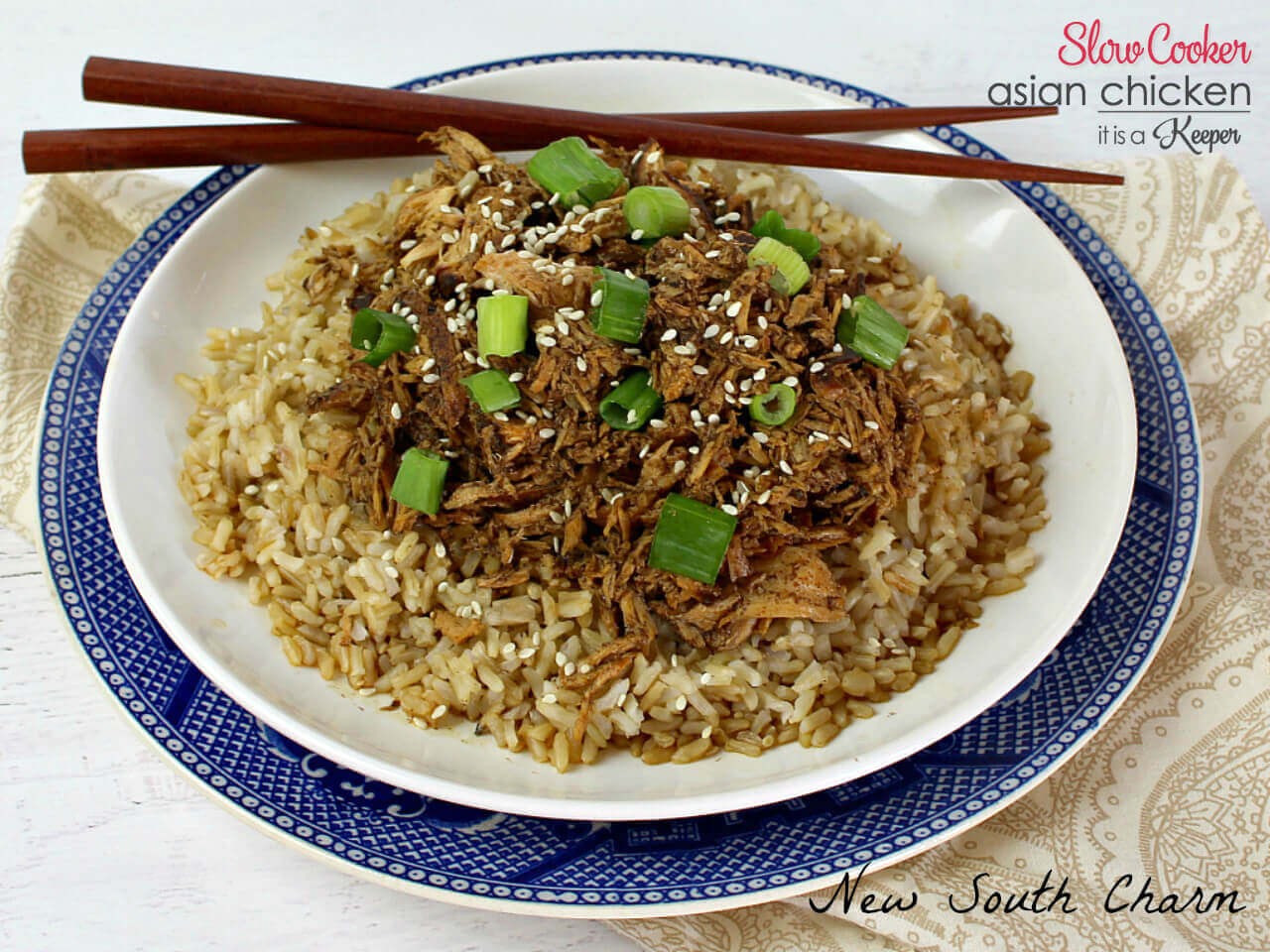 Slow Cooker Asian Chicken - this is one of my favorite easy crock pot recipes for chicken
