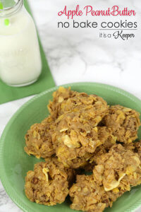 Apple Peanut Butter No Bake Cookies - this easy recipe is a great snack or dessert