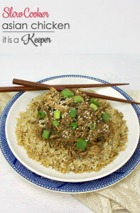 Slow Cooker Asian Chicken - this is one of my favorite easy crock pot recipes