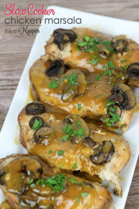 Slow Cooker Chicken Marsala - This is one of my favorite easy crock pot recipes