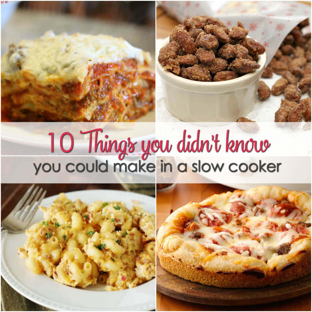 We all love easy crock pot recipes, but slow cookers aren't just for dinner.  Here are 10 things you didn't know you could make in a slow cooker. These are sure to be the best slow cooker recipes of all time.
