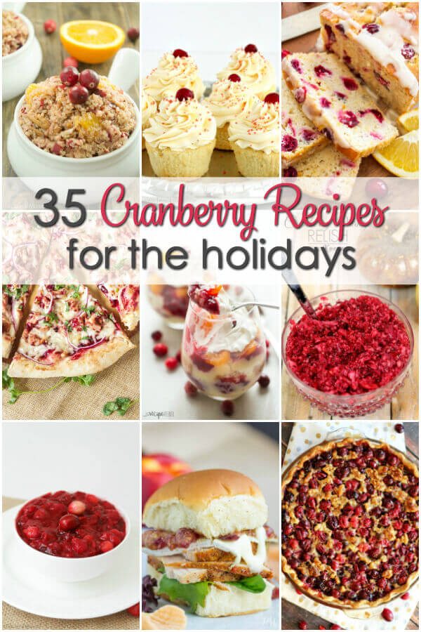 These are the some of the best cranberry recipes that are perfect for your holiday meal!