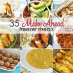 An entire month of make ahead freezer meals to give you a jumpstart on dinner