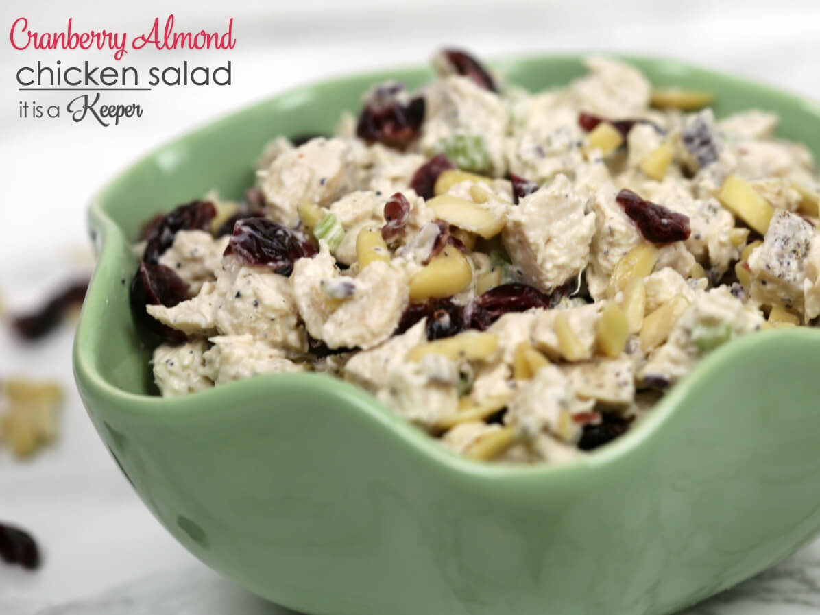 Cranberry Almond Chicken Salad - this easy recipe is full of flavor and texture