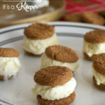 Gingersnap and Eggnog Ice Cream Sandwiches
